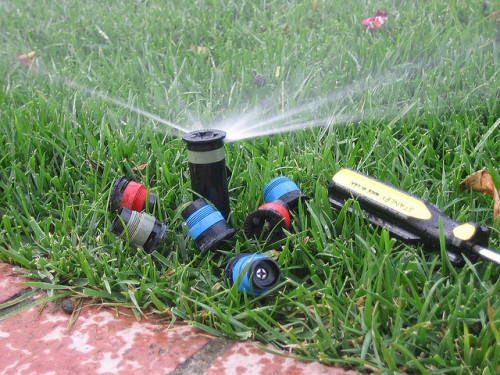 Sprinkler System by Flickr User Phu Son.
