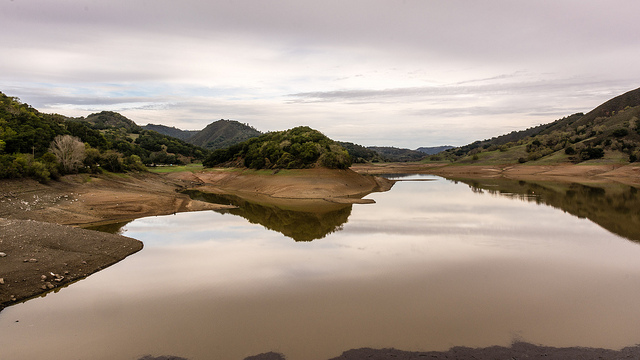 Photo Courtesy Flickr User: Don DeBold Effect of the Drought on Uvas Reservoir